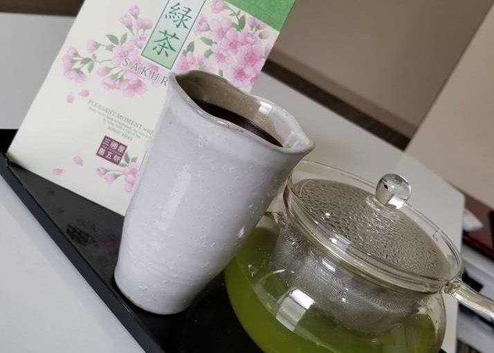 ただ今、さくらの緑茶を限定でお出ししております!